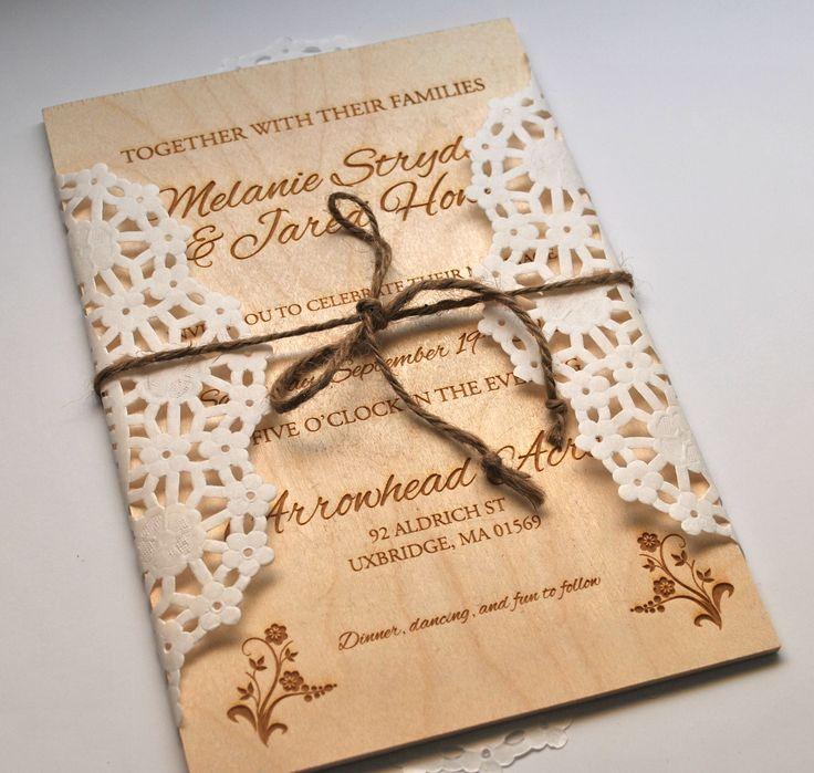 the 25+ best lazer cut wedding invitations ideas on pinterest, Wedding invitations