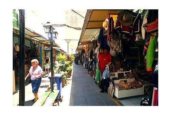 Feria Artesanal Santa Lucía - Chile. Best Place to find souvenirs in Santiago.