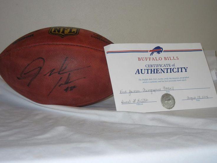 Buffalo Bills Fred Jackson signed NFL Wilson The Duke game football w COA #BuffaloBills