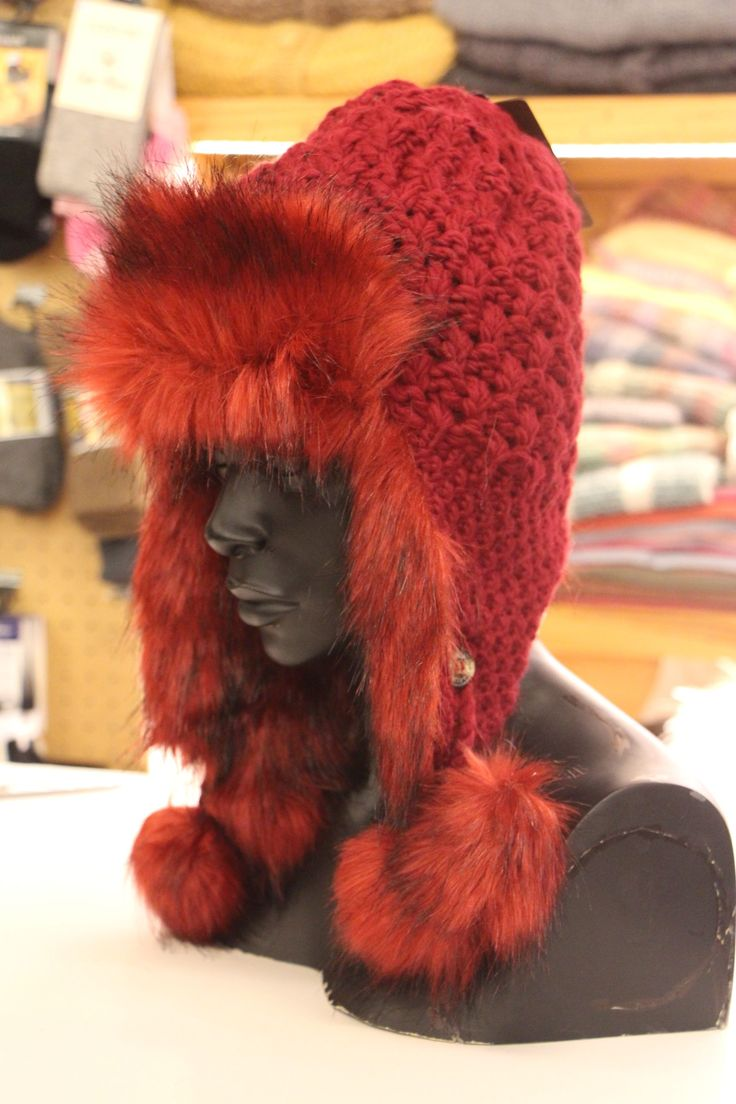 Our online store has this burgundy red Fur Hat and many more in-stock http://bit.ly/2k9dop3 or visit us in-store at shop F102-Watershed, V&A Waterfront this weekend to purchase yours.