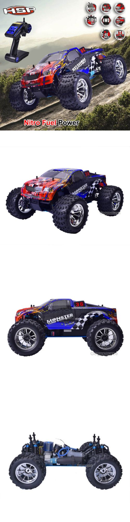 Cars trucks and motorcycles 182183 hsp 94188 4wd 1 10 off road monster truck