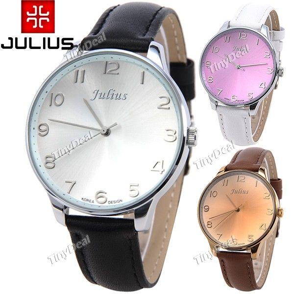 http://www.tinydeal.com/it/julius-genuine-leather-band-quartz-watch-with-big-round-case-p-116675.html  (JULIUS) Genuine Leather Band Quartz Watch Wrist Analog Watch Wristwatch