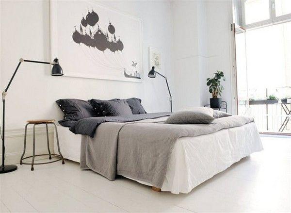 Contemporary BedroomGrey Bedrooms, Contemporary Bedroom, Beds, Bedrooms Design, Interiors, Black White, Design Bedrooms, White Bedrooms, Bedrooms Decor