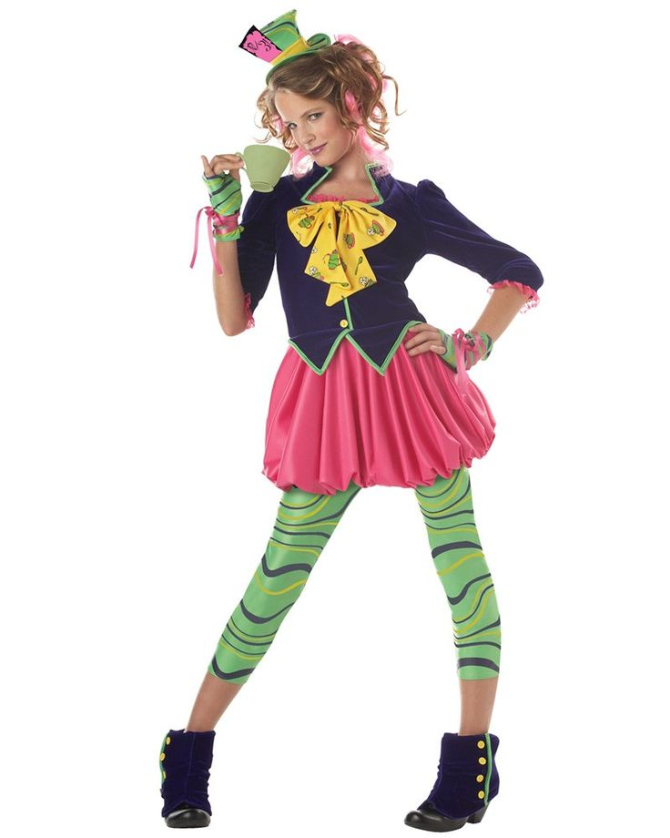 The Mad Hatter Girls Tween Costume