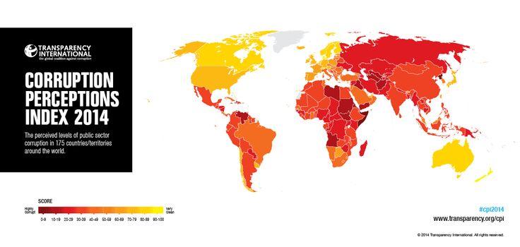 La situación de la corrupción en el mundo resumida en este mapa interactivo