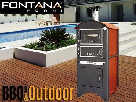 Fontana Pizza Oven Small Est   BBQ's & Outdoor