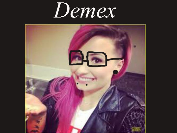 demi lovato turned in to the main guy of skrillex!( I mean I turned her into him its like mix between her and him) <3  <3