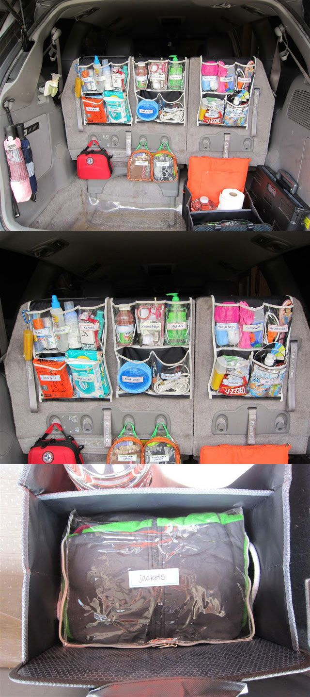 8 Kids Storage And Organization Ideas: Everything You Need On A Road Trip With The Kids Right At