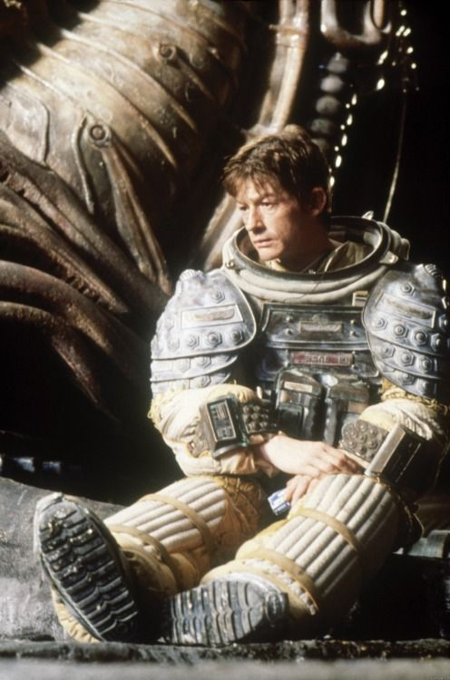 "mycultizm:  John Hurt on the set of ""Alien"""