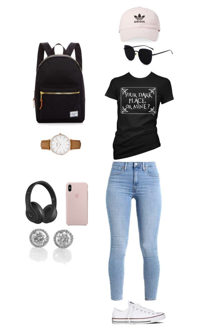 """""""Untitled #6"""" by gaulosaturne on Polyvore featuring Converse, Herschel Supply Co., CLUSE, adidas and Beats by Dr. Dre"""