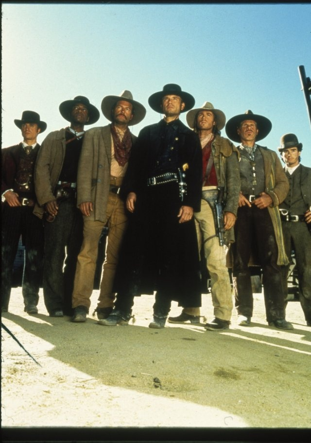 The Magnificent Seven - Michael Biehn, Ron Perlman, Dale Midkiff, Eric Close, Andrew Kavovit, Anthony Starke and Rick Worthy.