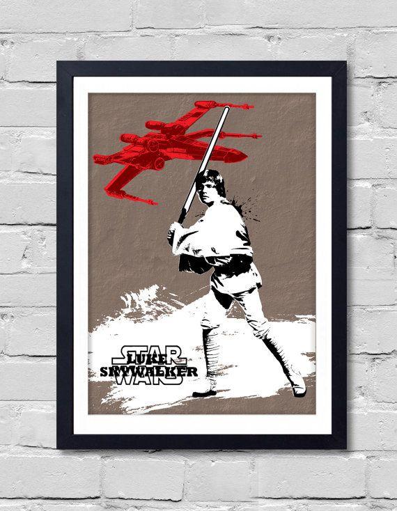 Vintage Star Wars Poster. Luke skywalker by POSTERSHOT on Etsy