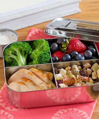 Stainless Steel 20-Oz. Quad Divided Lunch Container #zulily *We have these and love them for the kids and school