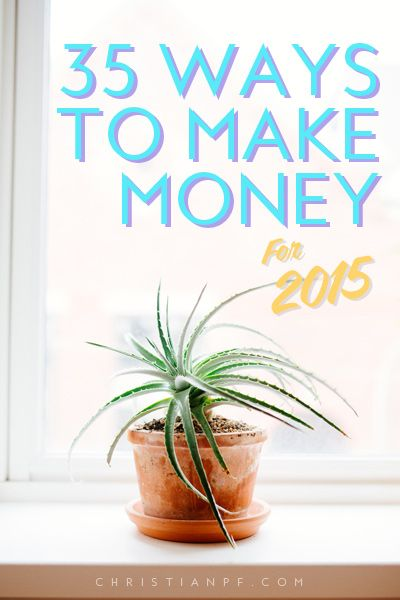 Not sure about you, but there have been many times in my life when I wanted/needed to make some extra money.  The good news for us today is there are a wide range of ways to make money that weren't around even a decade ago.  So these are 35 ways to make money in 2015 - http://christianpf.com/ways-for-teens-to-make-money/