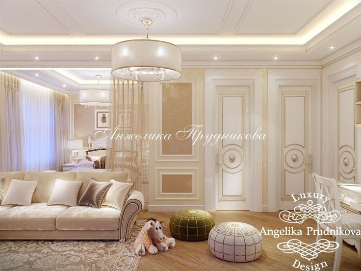 Дизайн интерьера детской комнаты в классическом стиле в ЖК Кутузовская Ривьера - фото