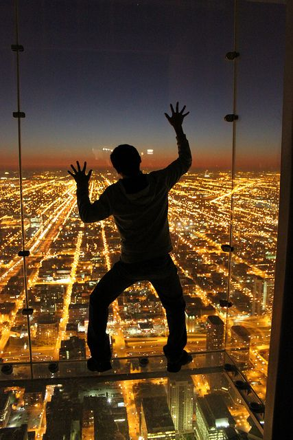Sears tower in Chicago at night by rommelholmes, via Flickr
