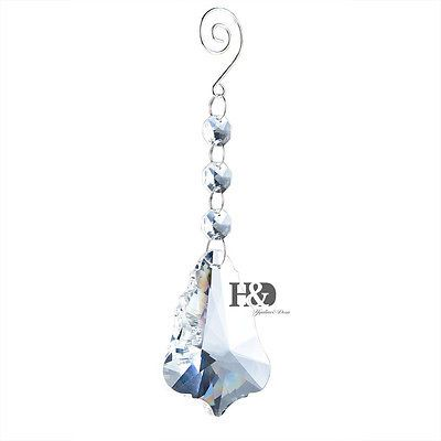 Clear Chandelier Hanging Xmas Tree Crystal Rainbow Prism Pendants Feng Shui 50mm. $2