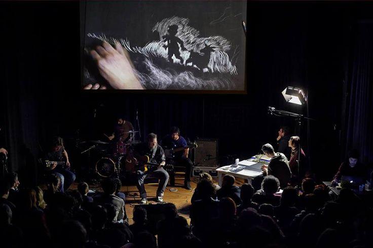 Concerto disegnato dei Ronin con Marina Girardi e Rocco Lombardi ispirato al fumetto L'ARGINE
