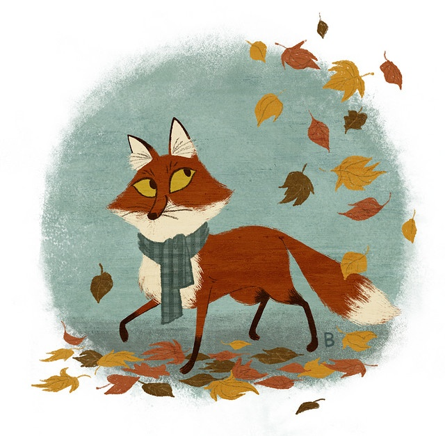 Miss Bridgette! I love her stuff she reminds me so much of Mary Blair. I have a print of hers and wish she still sold on etsy, or I had bought more when she did. Foxes are starting to move in on squirrel territory for me.