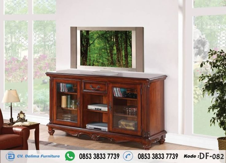 Bufet Tv Minimalis Terbaru Cabinet Stand Kayu Jati Furniture Tv Stand With Glass Doors Quality Living Room Furniture