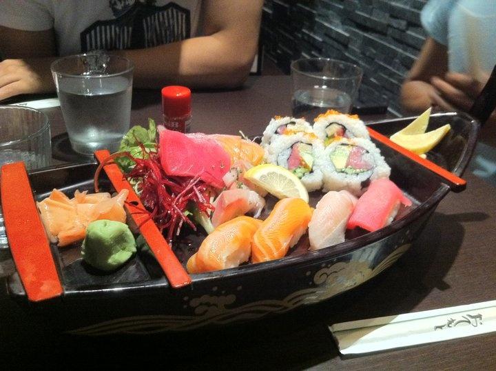 #Sashimi Boat at #Zen Japanese Restaurant and Sushi Bar, #Randwick