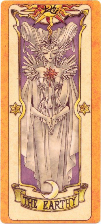This is The Earthy Clow Card from the Card Captor Sakura anime and manga series by CLAMP