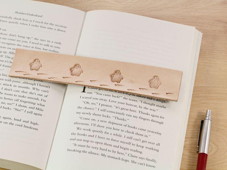 Click To Shop Now - Handmade Penguin Bookmark Leather Bookmark Penguin Gift Romantic Couples Gift Anniversary Gift. https://etsy.me/2GGCBkz #penguin #bookmark #leather #penguinbookmark #leatherbookmark