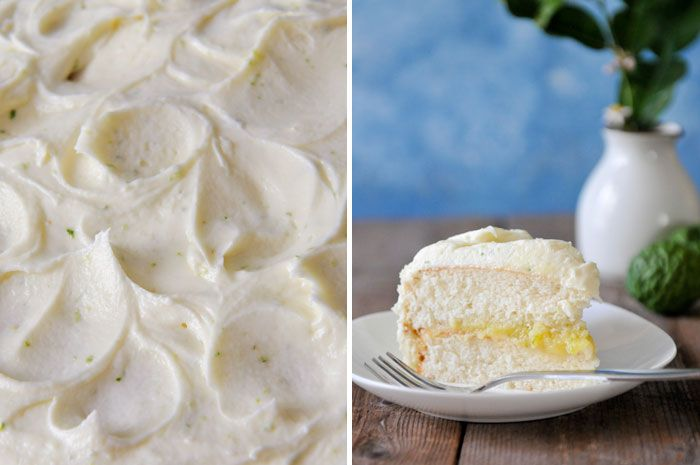 Recipe for Thai-Inspired White Cake with Kaffir Lime Curd by RachelCooksThai.com