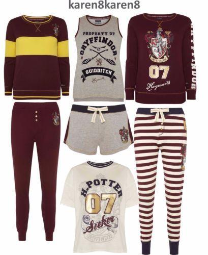 Ladies-HARRY-POTTER-Pyjamas-Primark-HOGWARTS-QUIDDITCH-Womens-Pajamas