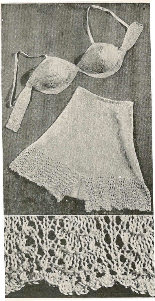 Knit Lingerie Pattern : 1000+ images about Vintage Knit and Crochet on Pinterest