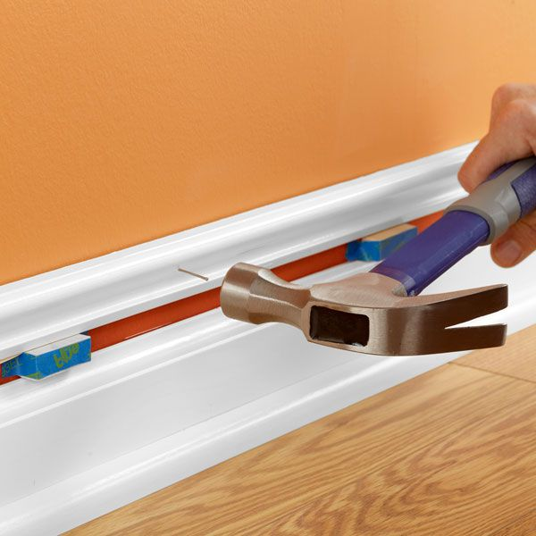Transform plain baseboards into distinctive customized mouldings that add a dash of color -- all for less than $1 per foot.