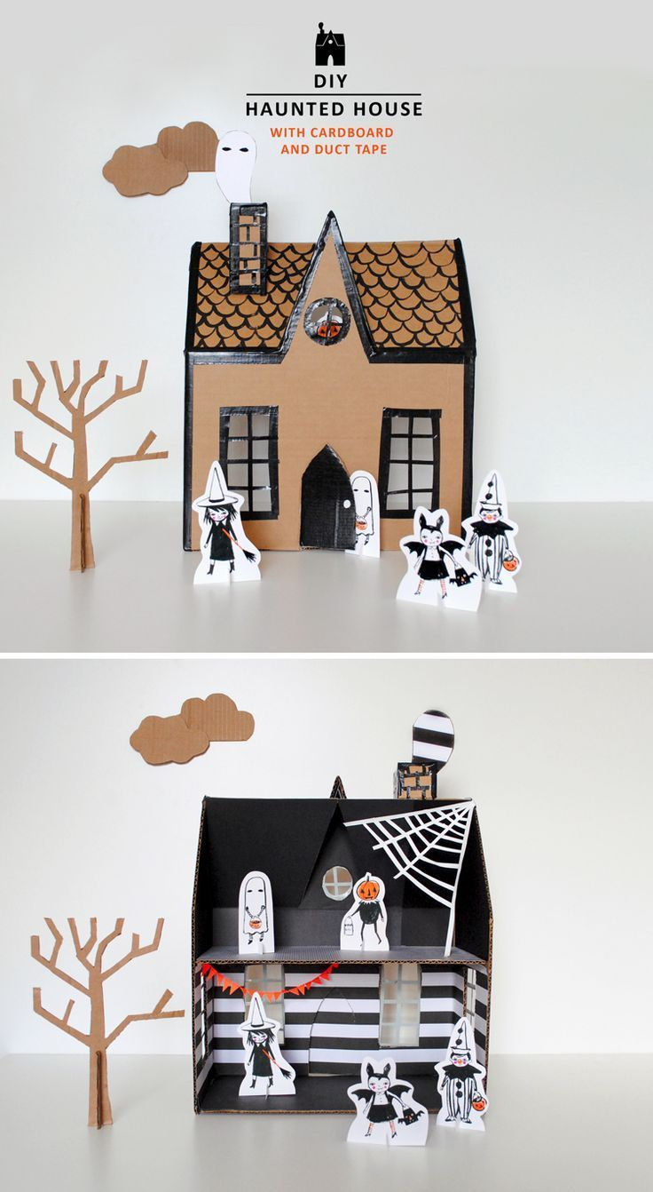 Haunted House Halloween Cut-out | Haunted houses, House template and Free  printable