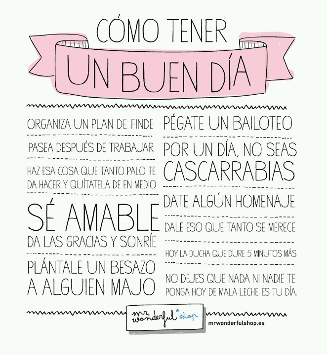 Mr wonderful Quotes. Frases. citasGood Morning, Mr Wonder, Buendía, Cómo Tener, Good Day, Como Tener, Mrwonderful, Phrases, Buen Dia