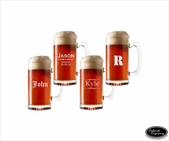 Hey, I found this really awesome Etsy listing at https://www.etsy.com/listing/195594333/four-personalized-beer-mugs-ships-fast