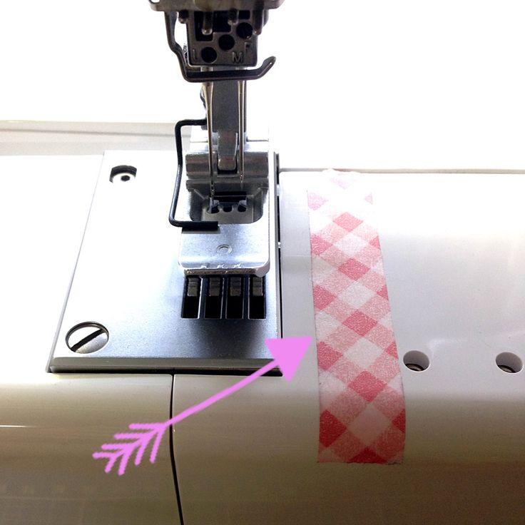 Lexinähkon Masking Tape beim Nähen für saubere Kanten und gerade Säume und die richtige Nähmaschinennadel