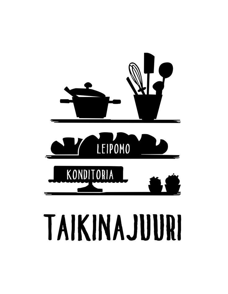 Leipomo-konditoria Taikinajuuri Oy, Turku, Finland. Bakery Logo