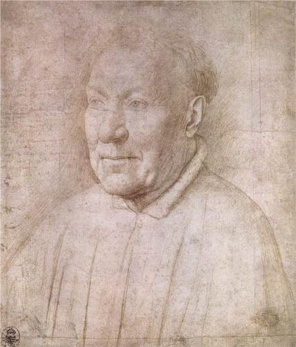 VAN EYCK Jan van Eyck: Flemish painter (Maaseik? ca. 1390 - Brugge 1441) - Portrait of Cardinal Albergati