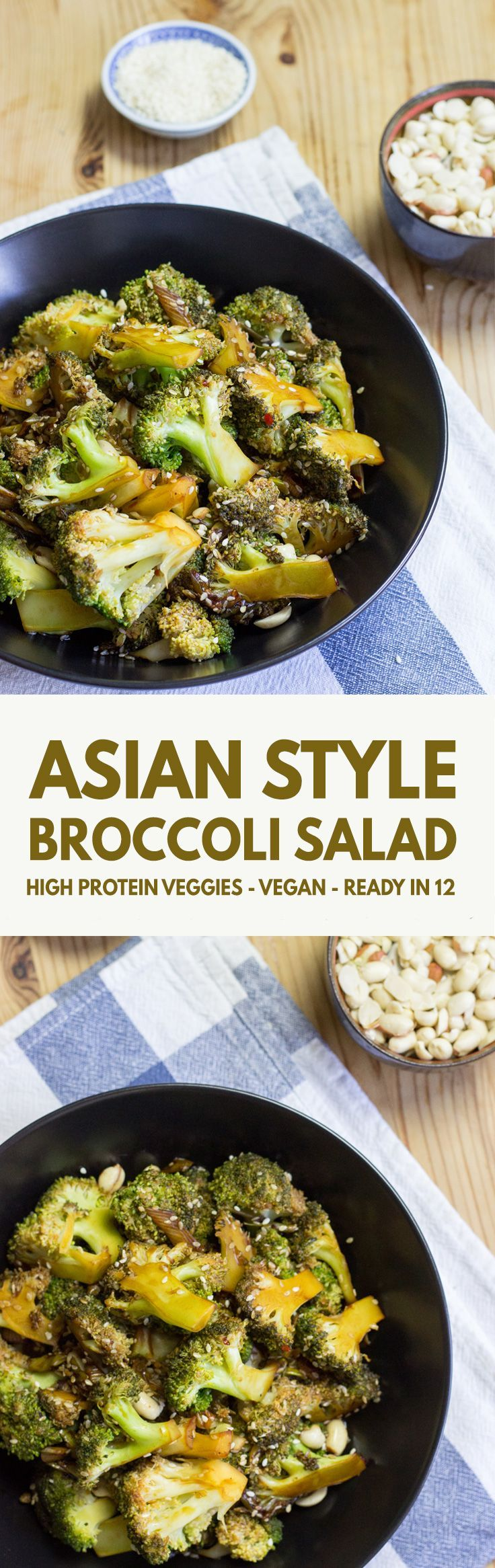 Vegan Broccoli Salad - High in Protein, Low in Carbs - really tasty! | http://hurrythefoodup.com