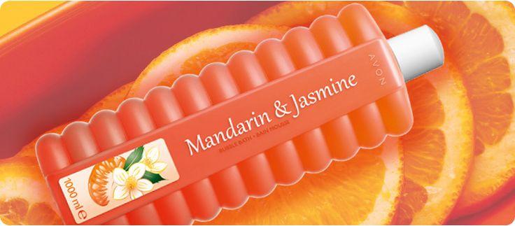 AVON Bubble Bath Badeschaum Mandarin & Jasmine. Ein entspannendes Schaumbad mit tollem, erfrischendem Duft von Mandarine und Jasmin ist genau das richtige nach einem stressigen Tag. Gönnen Sie sich eine Auszeit die Ihre Haut zart pflegt und ihr einen frischen Duft schenkt.