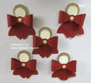 Gift bow angel magnets