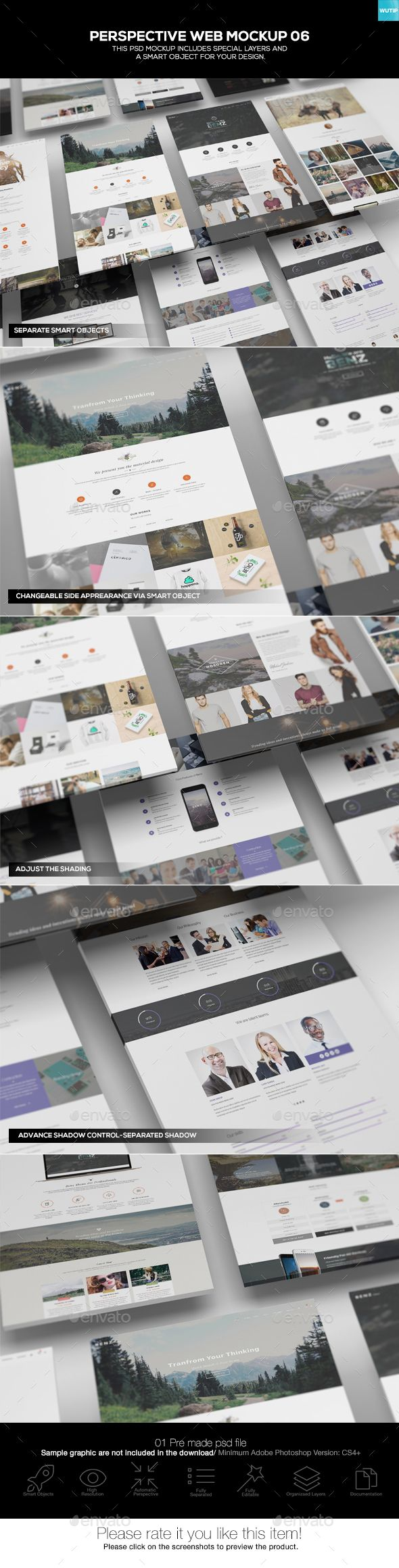 Perspective Web Mockup 06 — Photoshop PSD #web presentation #themeforest • Download ➝ https://graphicriver.net/item/perspective-web-mockup-06/19565572?ref=pxcr