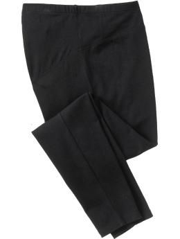 Maternity Full-Panel Jersey Leggings   Old Navy  $14.94....these are an absolute must for later in your pregnancy.  Lexi and Carmen both swear by these.