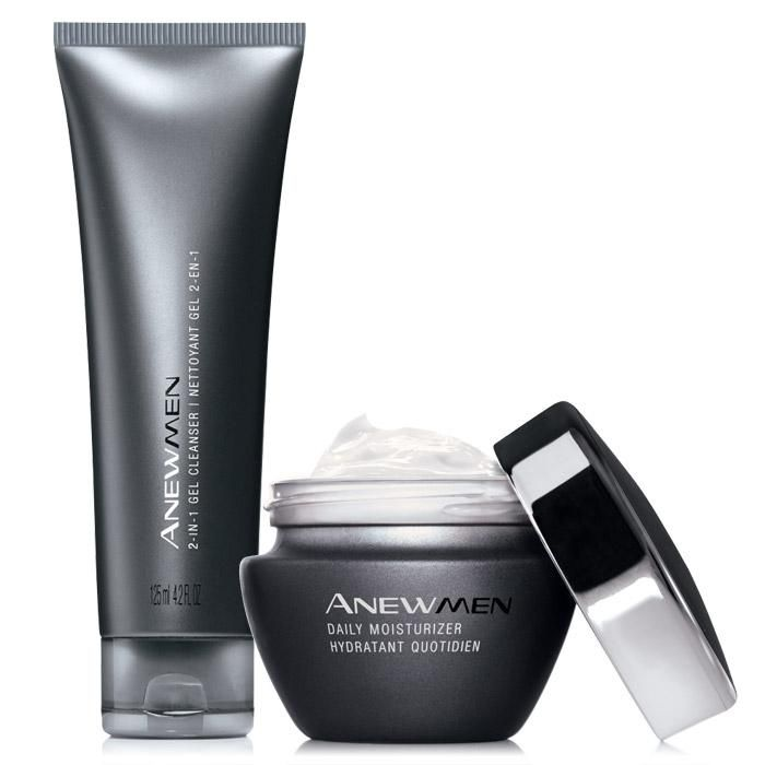 Everyone's skin needs daily hydration—even yours. Get both the Anew Men Daily Moisturizer and 2-in-1 Gel Cleanser for ONLY $32 - a $14 SAVINGS!! This intensive moisturizing cream absorbs quickly to rehydrate skin and protect it from dryness. It's oil-free, fragrance-free and even suitable for sensitive skin. We'll work hard to make your skin look great…so you can focus on more important things. 1 oz. net wt. The 2-in-1 cleanser with our innovative oil-free ...