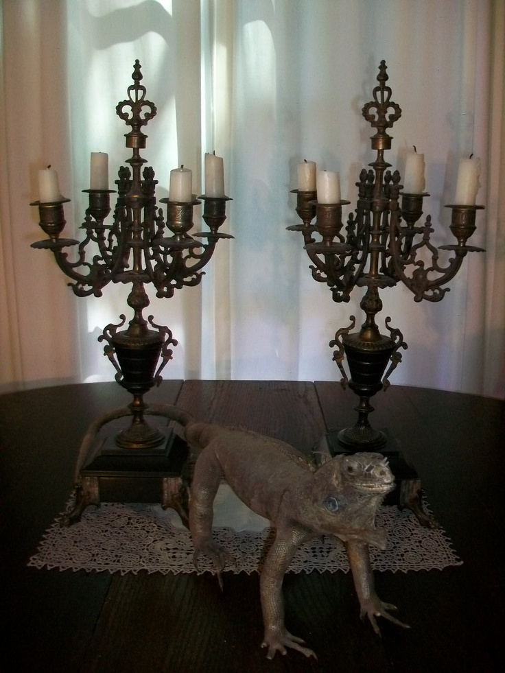 Antique Victorian Candelabra Pair 1800s Silverplate