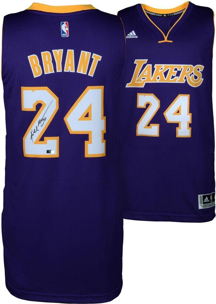 e6d35664427 Kobe Bryant Autographed Nike Swingman Purple Jersey - Panini Authentic   sportsmemorabilia  autograph  basketballjersey