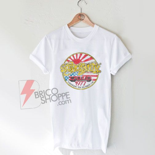 Aerosmith Concert Tour T-shirt – Boston to Budokan 1977 Vintage Shirt On Sale