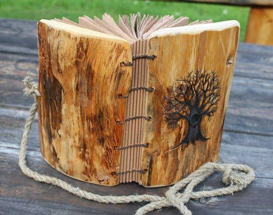 Rustic Wood Wedding Guest Book Garden With Tree