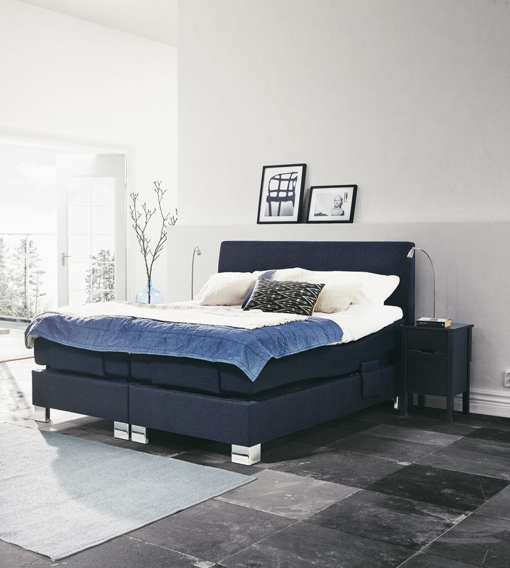 Jensen Aqtive II Adjustable bed is a elegant bed that looks like a continental bed when not in use. Jensen Aqtive II is dual-sprung with a spring system both in the base and in the mattress, a construction that provides great stability.