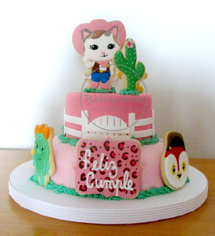 Torta decorada con galletas