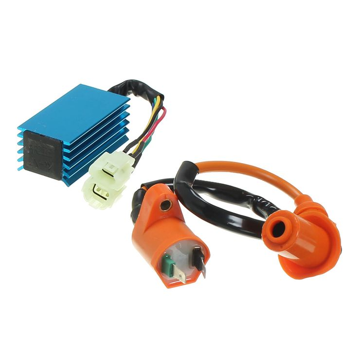 Ignition Coil with 6 Pin Racing performance AC CDI Box For Gy6 50cc 150cc Scooter